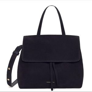 Mansur Gavriel Lady Mini Bag, Black Suede